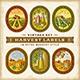Vintage Colorful Harvest Labels Set - GraphicRiver Item for Sale