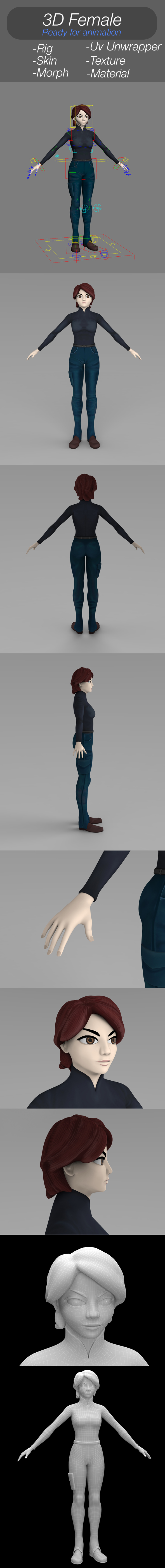 3d Character Female