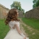 Pretty Bride Walks, Spinning at the Castle - VideoHive Item for Sale