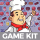 Happy Chef Ball Shooting Game Kit - GraphicRiver Item for Sale