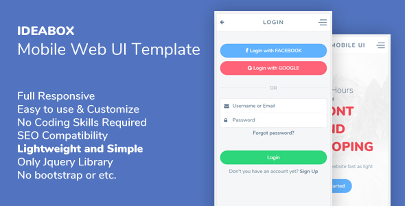 Ideabox - Mobile Web UI Template