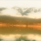 Lake and Snow Covered Mountain with Clouds - VideoHive Item for Sale