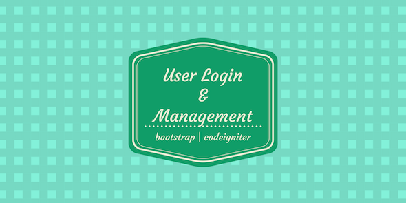 PHP User Login and Management Codeigniter - HMVC