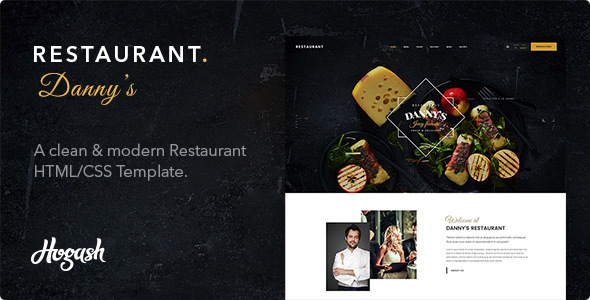 Dannys | Restaurant and Cafe HTML template