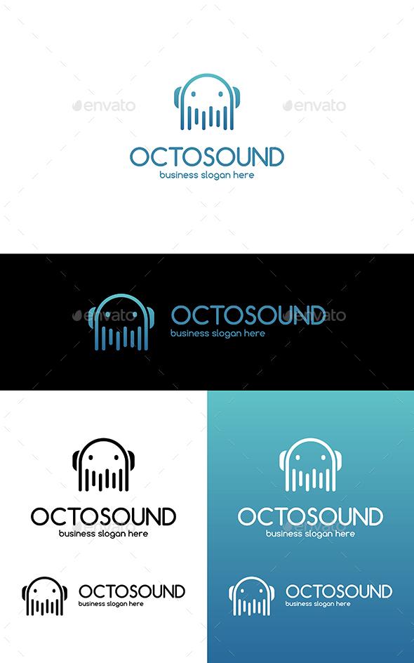 Octopus Sound Clean Vector Business Logo