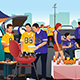 American Football Fans Having a Tailgate Party - GraphicRiver Item for Sale