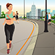 Woman Running in a Park in the City - GraphicRiver Item for Sale