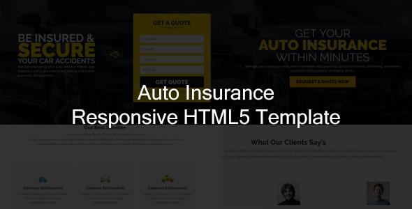 Jr. Auto Insurance Landing Page - Responsive HTML5 Template