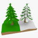 LowPoly Pine Trees - 3DOcean Item for Sale