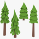 LowPoly Pine Trees2 - 3DOcean Item for Sale