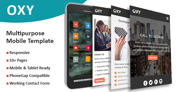 Oxy - Multipurpose Responsive Mobile Template