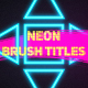 Neon Brush Titles - VideoHive Item for Sale