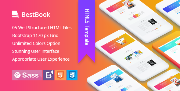 Bestbook - Book Author & Marketers Landing Page HTML5 Template