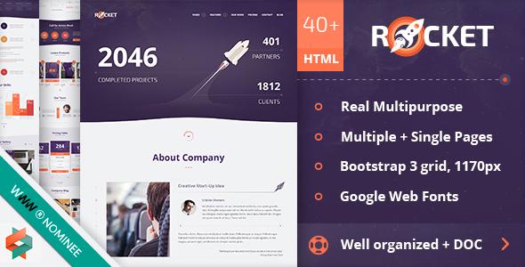 Rocket - Creative Multipurpose HTML Template