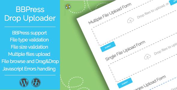 Drop Uploader for BBPress - Drag&Drop File Uploader Addon