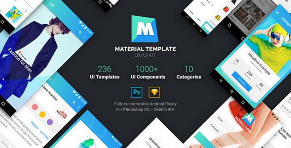 Material Template UX/UI Kit