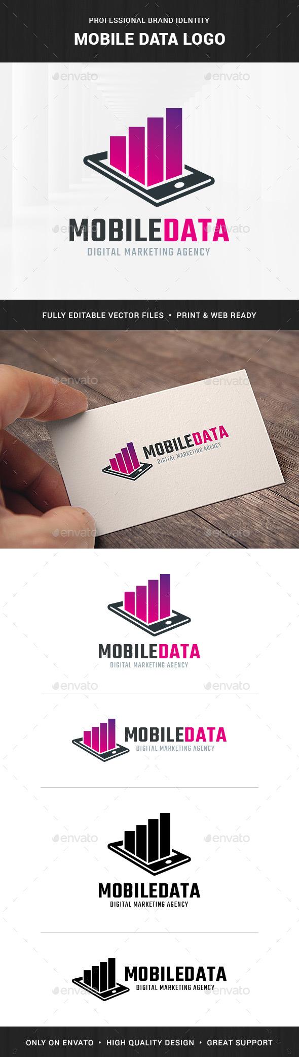 Mobile Data Logo Template