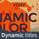Dynamic Color Titles - VideoHive Item for Sale