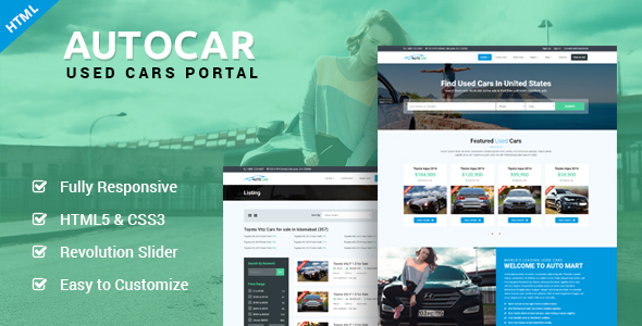 AutoCar - Online Used Cars Template
