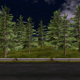 Forest Road Night - VideoHive Item for Sale