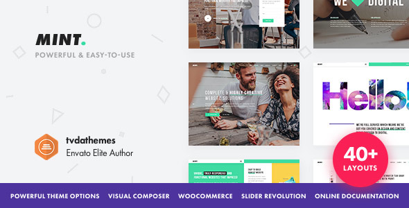 Mint – Creative Multi-Purpose WordPress Theme