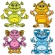 Friendly Cartoon Monsters - GraphicRiver Item for Sale