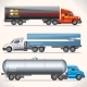 Abstract Trucks with Trailers of Various Types - GraphicRiver Item for Sale