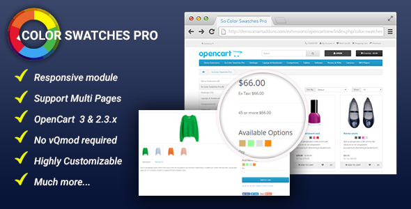 Color Swatches Pro Module for OpenCart 3 & 2.3.x