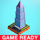 Cartoon Low Poly  Skyscraper - 3DOcean Item for Sale