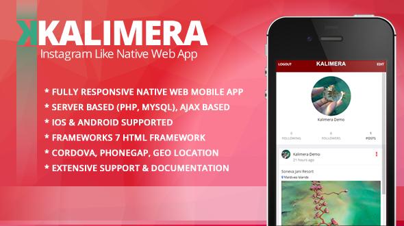 Kalimera  - Travel & Share Native Web Mobile App like Instagram