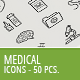 50 Medical Business Icons - GraphicRiver Item for Sale