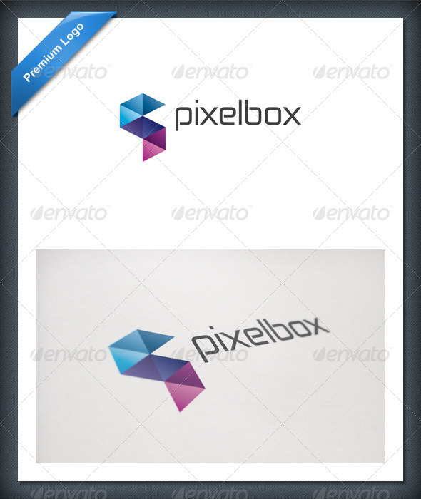 Pixel Box Logo Template