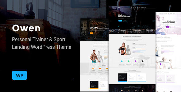 Owen - Personal trainer & Sport  One Page Landing WordPress theme