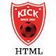 Kick    Football Club HTML5 Template - ThemeForest Item for Sale