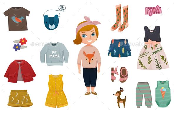 Baby Girl Fashion Icon Set