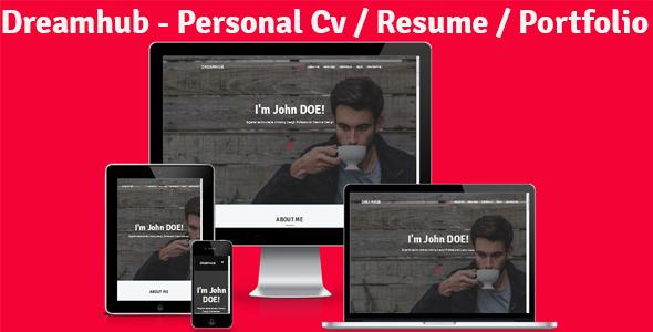Dreamhub - Personal Resume-CV-Portfolio HTML Template
