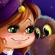 Illustration of a Halloween Witch with Owl - GraphicRiver Item for Sale