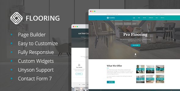Flooring - Floor Repair & Refinish WordPress Theme
