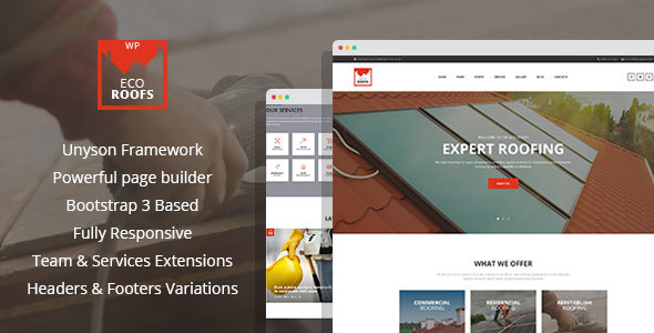 Eco Roofs - Housetop Repair & Renovation WordPress Theme