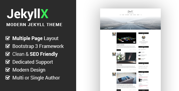 JekyllX - Super Fast Multi-Purpose Jekyll Blog Theme
