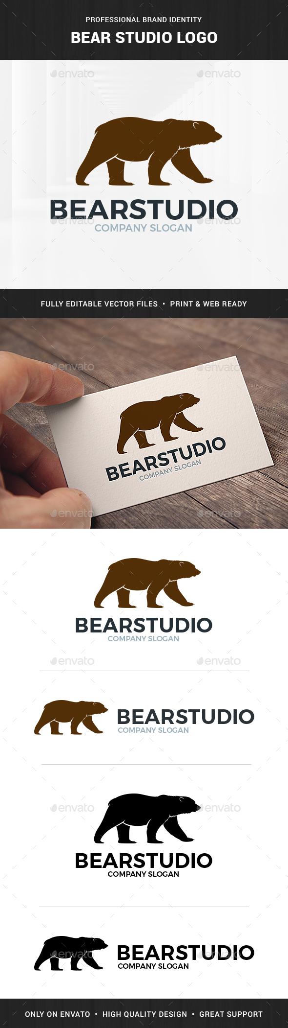 Bear Studio Logo Template