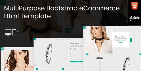 Gem - Multipurpose Responsive Bootstrap eCommerce Html Template