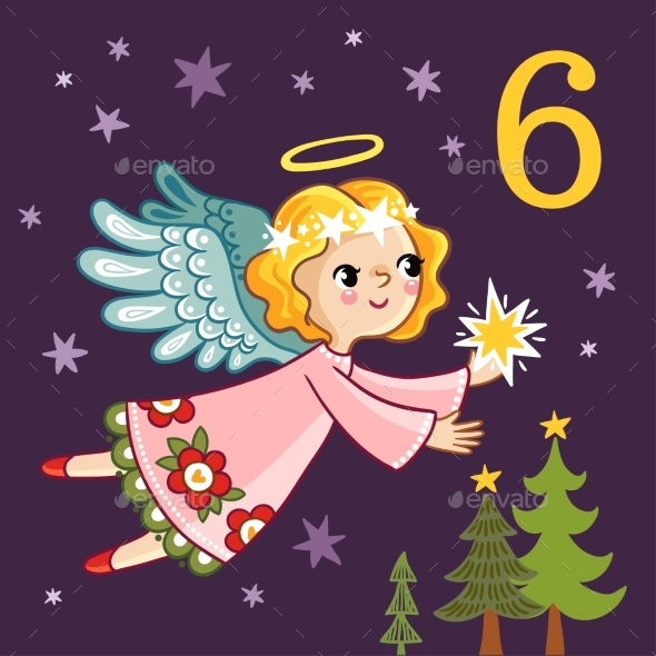 Angel Is Flying with a Star in Her Hands