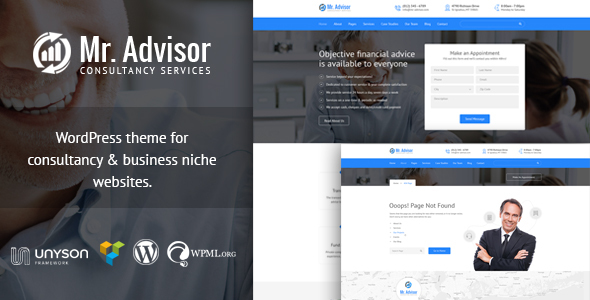 Mr Advisor - Finance and Consultancy WordPress Theme