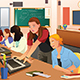 Female Teacher in Computer Class with Students - GraphicRiver Item for Sale