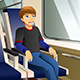Young Man Sitting in a Bus or Train Illustration - GraphicRiver Item for Sale