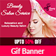 Beauty Salon Animated Gif Banner - GraphicRiver Item for Sale