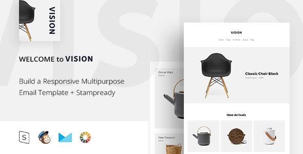 Vision - Responsive Email + StampReady Builder