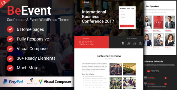 BeEvent - Conference & Event WordPress Theme