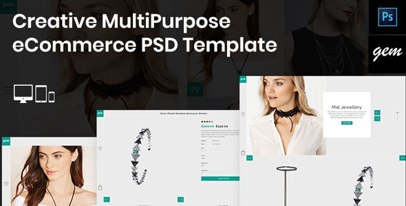 Gem – Creative MultiPurpose eCommerce PSD Template